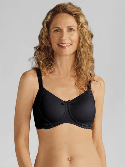 Amoena Lilly Padded Mastectomy Bra: Black