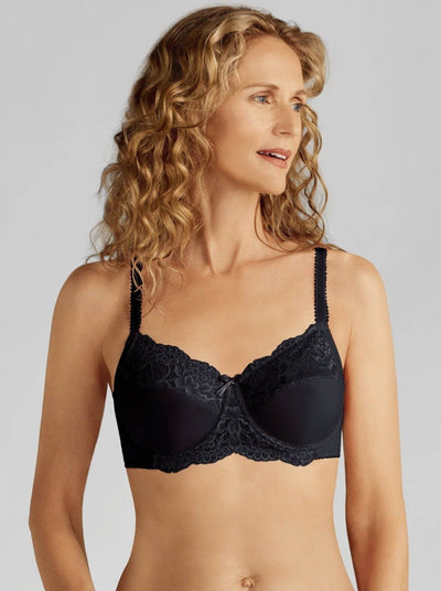 Amoena Lilly Underwire Mastectomy Bra: Black