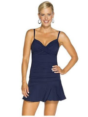 TOGS Mini Swim Skirt: Navy