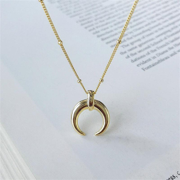 Crescent 18K Gold Moon Necklace