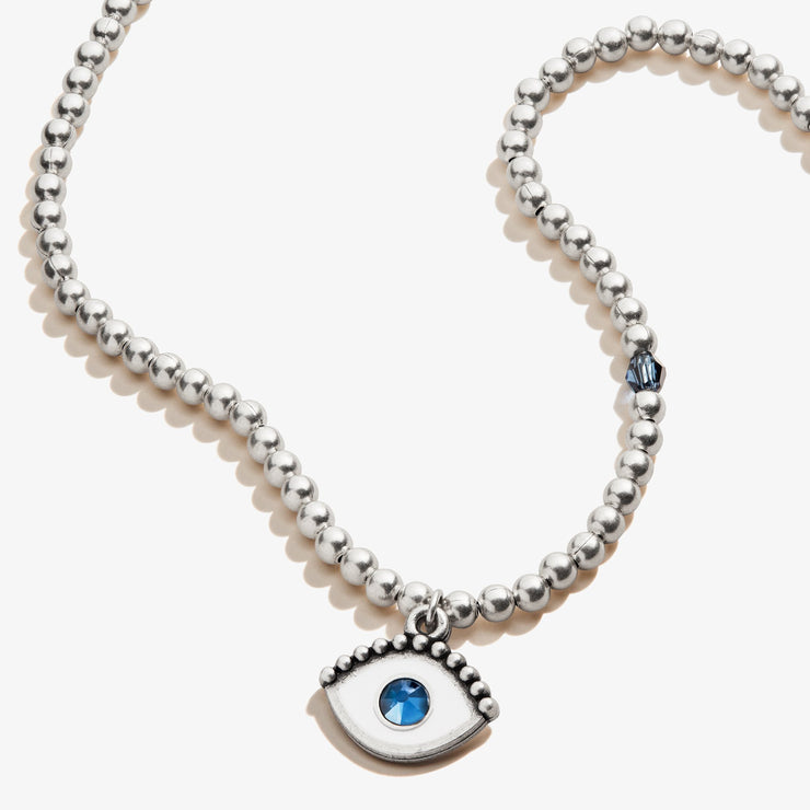 Evil Eye Crystal Charm Beaded Necklace