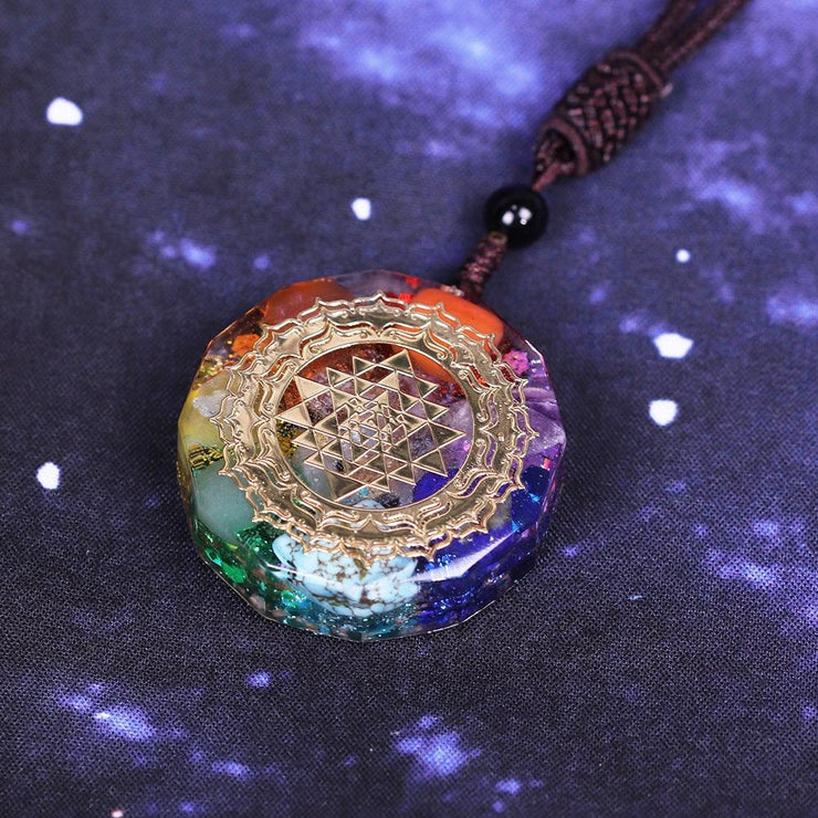 Seven Chakra Orgonite Necklace
