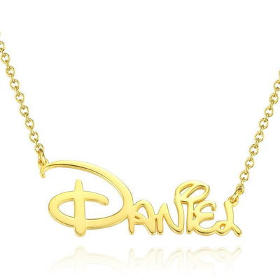 Christmas Gift Cute Classic Princess Style Name Necklace