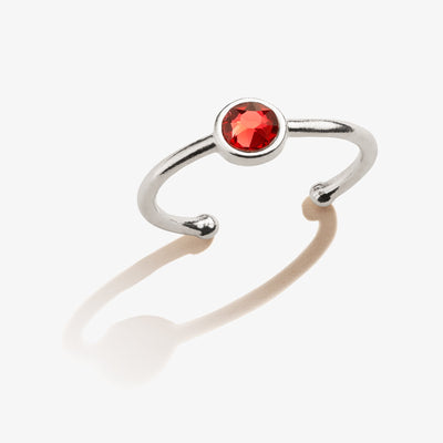Scarlet Birthstone Ring, January