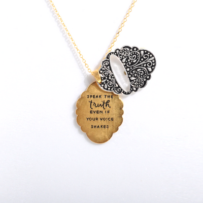 Speak the Truth Inspirational Necklace