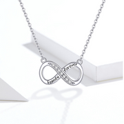 Infinity 'Family Forever' Sterling Silver Necklace