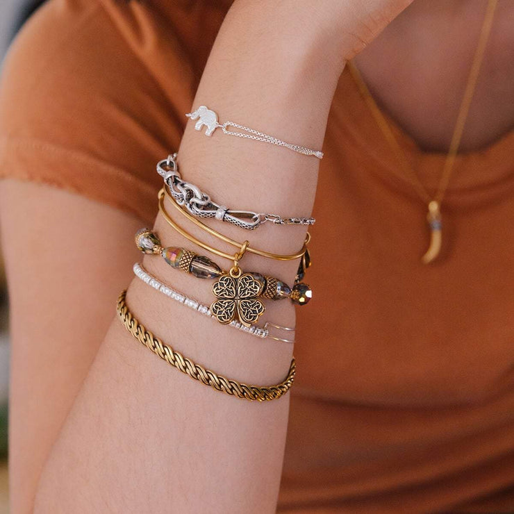 Four Leaf Clover IV Charm Bangle