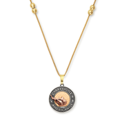 Liberty Copper™ Necklace, 14kt Gold Center Charm