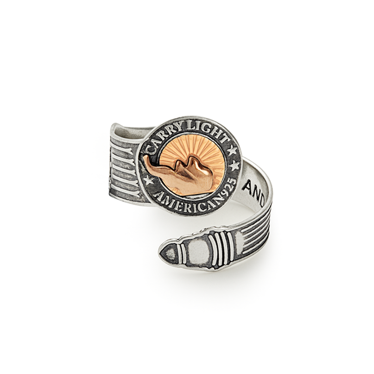 Liberty Copper™ Spoon Ring, 14kt Gold Center