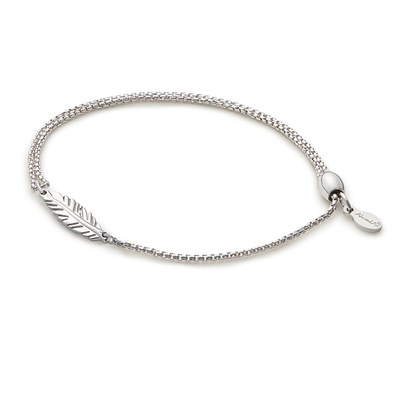Feather Pull Chain Bracelet