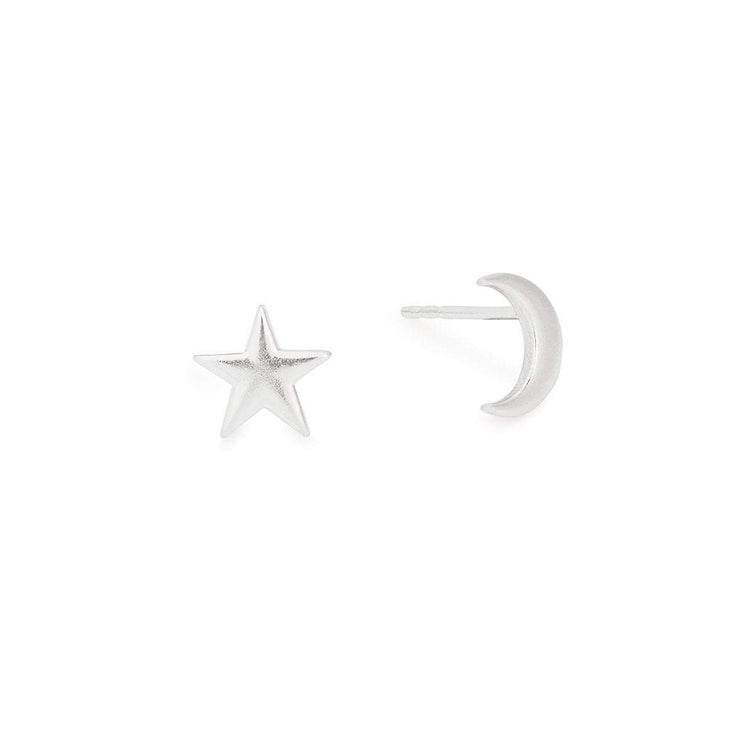 Moon + Star Stud Earrings