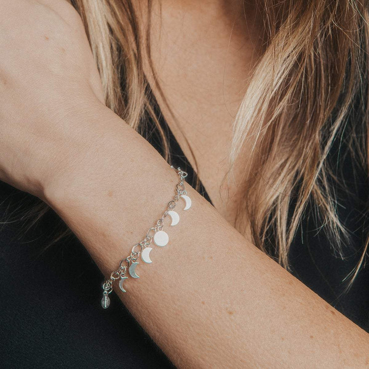 Moon Phase Pull Chain Bracelet