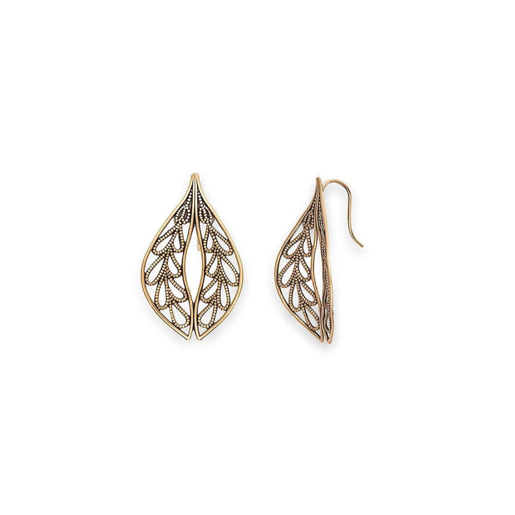 Leaf Drop Earrings, Medium
