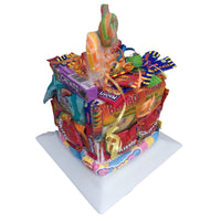 Sweet Candy cake tower.  Towers of candy treats, candy birthday cake, sweet candy cake, sweet cake, candy sweet cake
