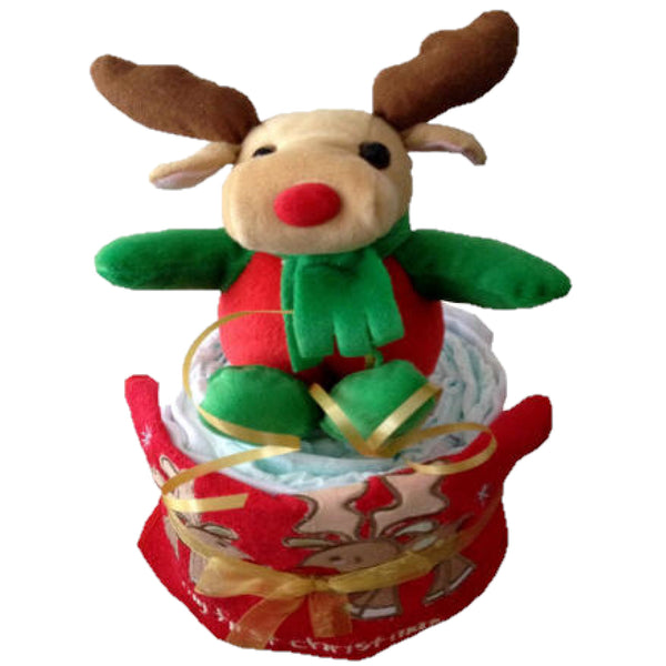 Christmas Nappy Cake, Baby's First Christmas Gift,  Baby's first christmas present