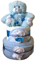 Deluxe 2 Tier Nappy Cake - Natural