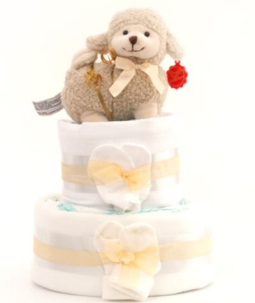 Simple Nappy Cake - Natural 2 Tier