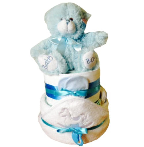 Standard Nappy Cake - 2 Tier Blue
