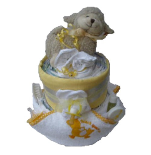 unisex nappy cake, 2 tier natural nappy cake, cream nappy cake, baby gifts, baby showers, baby present, baby gifts, irish baby