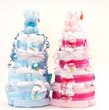 4 Tier Deluxe Nappy Cake - Natural