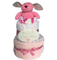 baby nappy cake, girls nappy cake, pink nappy cake, baby sleeping nappy cake, baby gifts, baby girls gifts, baby gifts ireland, nappy cake gifts,
