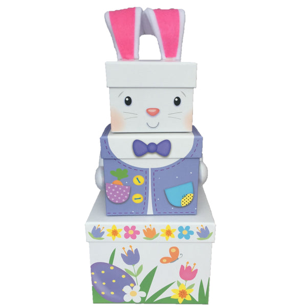 Easter Bunny Sweet Treat Tower. Easter Bunny Chocolate Hamper, Easter Hampers Ireland, Easter gifts ireland, Easter chick sweet treat towers, Easter hampers for children, easter hampers, chocolate easter hampers, easter gifts ireland, easter hampers, easter baskets, easter treats