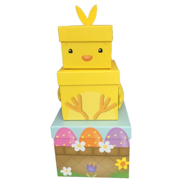 Easter chick sweet treat towers, easter hampers for children, easter hampers, chocolate easter hampers, easter gifts ireland, easter hampers, easter baskets, easter treats