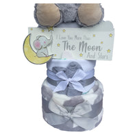 Plush Elephant Nappy Cake