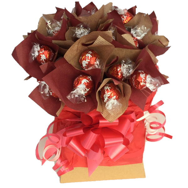 Lindt LIndor Milk Chocolate Bouquet, Chocolate Bouquets, LINDT chococate, lindt lindor milk chocolate