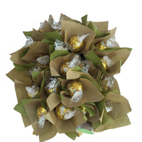 Lindt white chocolate bouquet, chocolate flower bouquets, lindt white chocolate, lindor white chocolate bouquet, valentines chocolate bouquet, mothers day chocolate bouquet, easter chocolate gifts