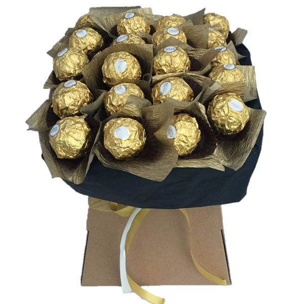 ferrero rocher chocolate bouquet, ferrero rocher chocolate hamper, chocolate hampers, chocolate bouquets, chocolate gifts ireland, birthday chocolate gifts, valentines chocolate hampers
