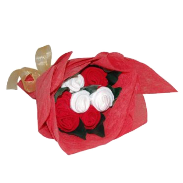 sock posy, christmas sock posy, christmas baby bouquet, unisex baby bouquet, bouquet of clothes