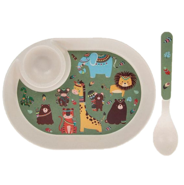 Fun Safari Bamboo egg & toast plate