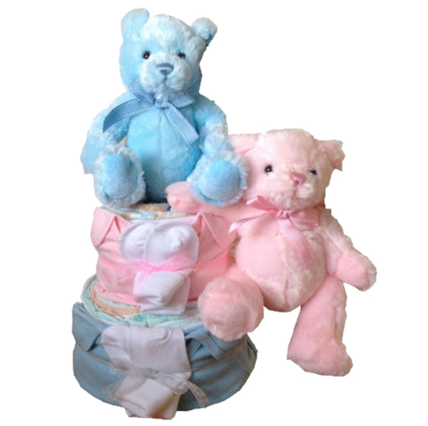 twins nappy cakes, twins baby gifts, twins baby shower, twins baby presents, twins baby gifts ireland, nappycakesie
