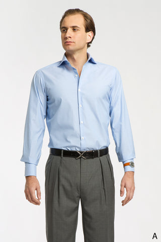 Light Blue Spread Collar Dress Shirt - Athletic Fit