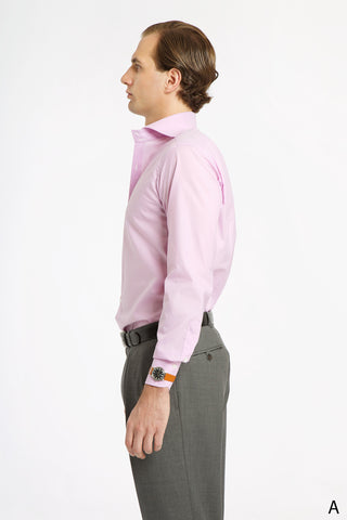 Lavender Spread Collar Dress Shirt - Athletic Fit