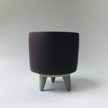 Tri-legged Grey Ceramic Pot - Greenspace