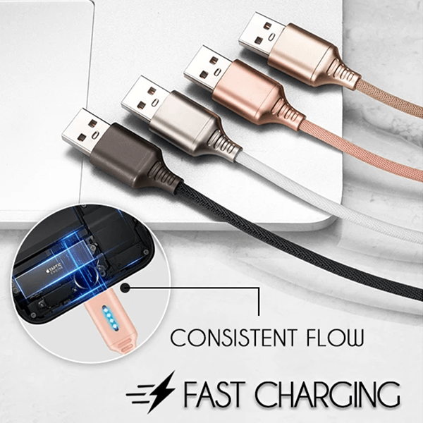 Auto Cut-off Fast Charging Nylon Cable (Buy Two Free Shipping)