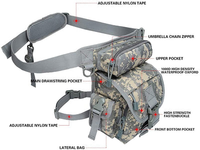 Multifunction Camouflage Tactical Waist Bag