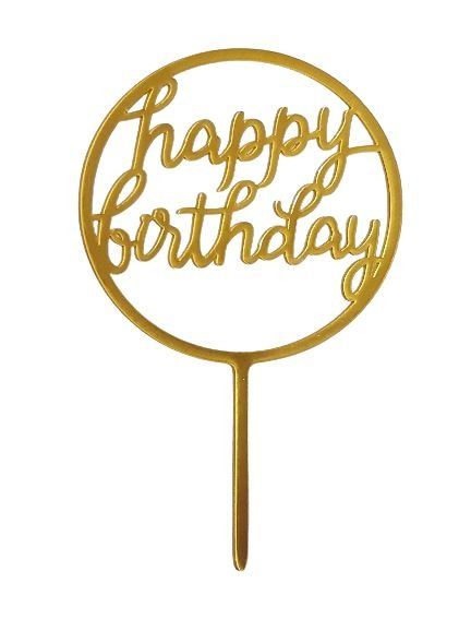 Cake Topper - Happy Birthday (Round)