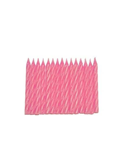 Birthday Candles (S) - Pink/Pink stripe