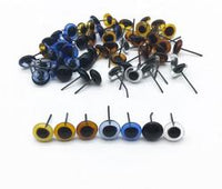 50pcs (25pairs) 3,4,5mm glass eyes with wire pin