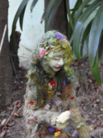 Princess of Nature one of a kind wool sculpture needle felted doll art doll needle felting include miniature animals squirrel birds