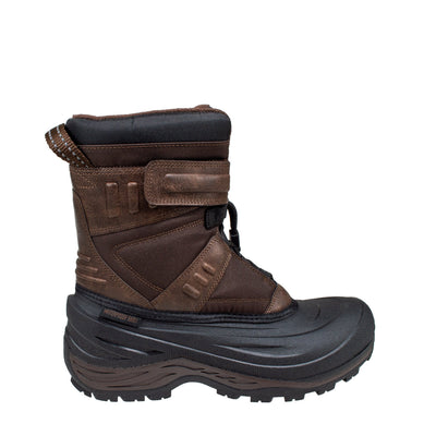 brown men's warm anti-slip winter boots