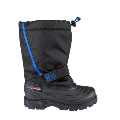 black kids insulated waterproof winter boots