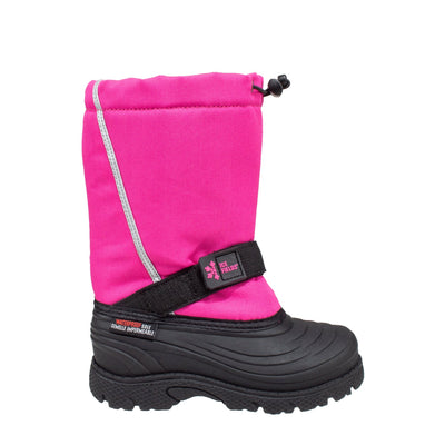 pink kids insulated waterproof winter boots