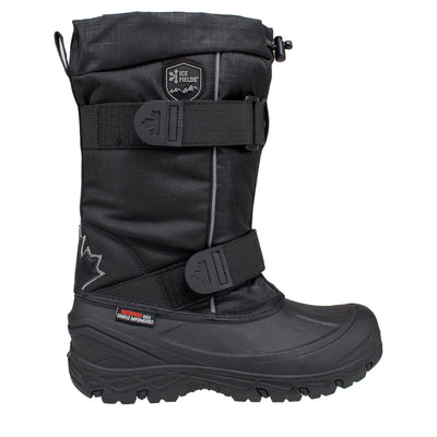 black tall insulated men's winter boots
