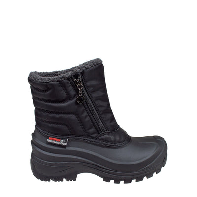 black insulated women's winter boots