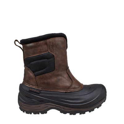 brown insulated anti-slip men's winter boots