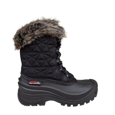 black women's insulated winter boots